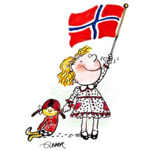 Jente med dukke og flagg – BEGIVENHETER