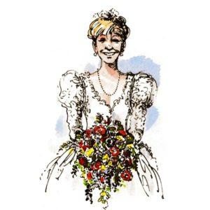Brud med brudebukett – BEGIVENHETER