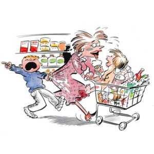 På butikken med barn - FAMILIE
