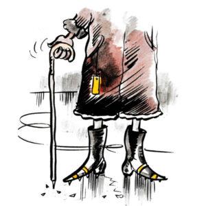 Gammel dame på isen - VINTER