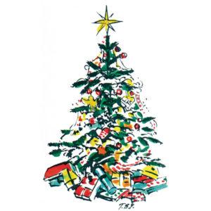 Juletre med gaver - JUL