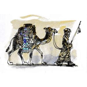 Kamel og beduin - JUL