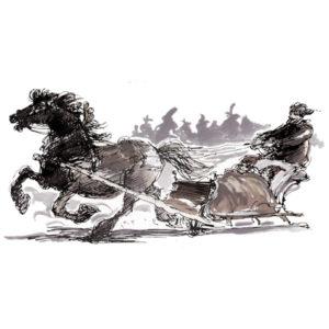 Hest og slede - JUL