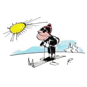 Mann på ski – VINTER