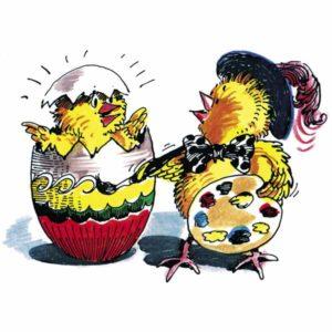 Kunstnerisk kylling - PÅSKE