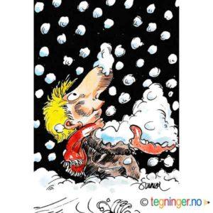 Mann med snø – VINTER