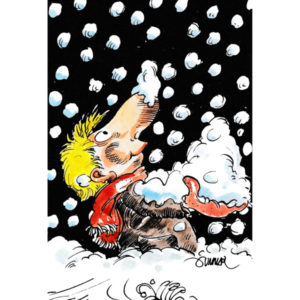 Mann med snø - VINTER