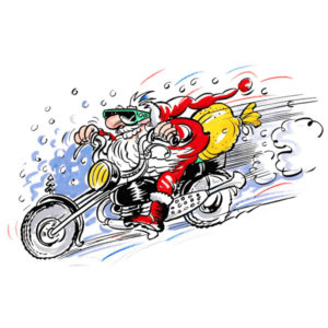 Motorsykkel nisse - JUL