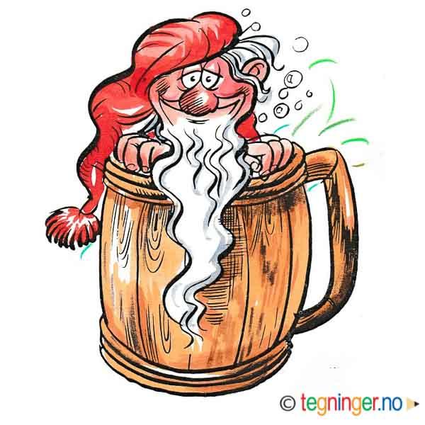Nisse i ølkrus - JUL - Tegninger.no on yule lads, ded moroz, father christmas, santa claus, christmas elf, la befana, yule goat, christmas mountains,
