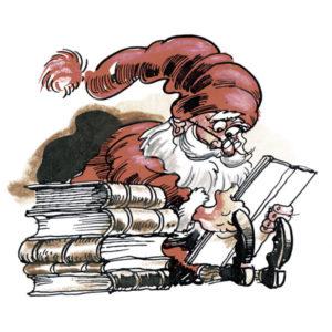 Nisse leser bok - JUL