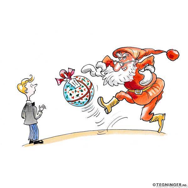 Julenisse med fotball – JUL