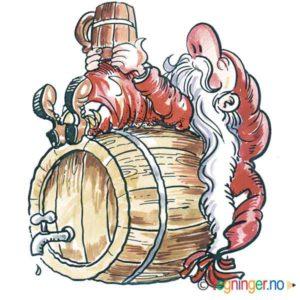 Nisse på øltønne – JUL