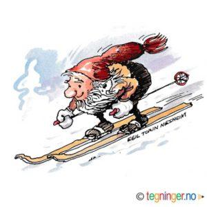 Nisse på ski – JUL