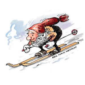 Nisse på ski - JUL