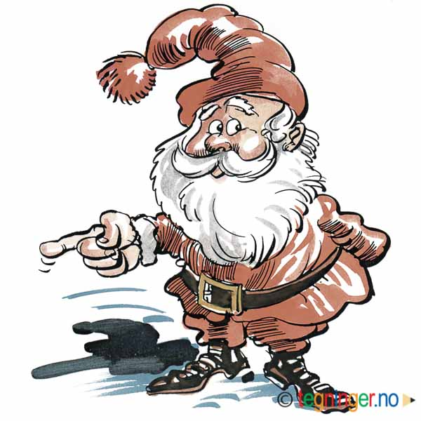 Nisse som peker - JUL - Tegninger.no on yule lads, ded moroz, father christmas, santa claus, christmas elf, la befana, yule goat, christmas mountains,