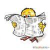 Påskekylling leser avis - PÅSKE