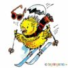 Kylling på ski – PÅSKE