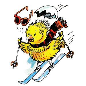 Påskekylling på ski - PÅSKE
