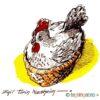Høne i kurv – PÅSKE