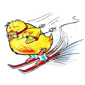Påskekylling på slalomski - PÅSKE