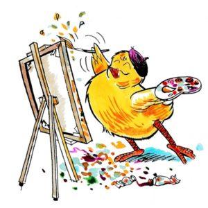 Påskekylling som maler - PÅSKE