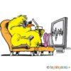 Påskekylling ser tv – PÅSKE
