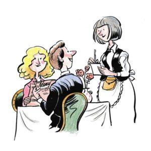 Servitør ved bord – YRKER