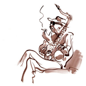 Saksofonist som røyker – KLASSIKER