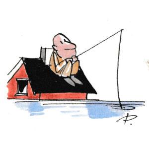 Fiske fra hus - VINTER