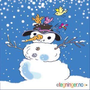 Snømann - VINTER